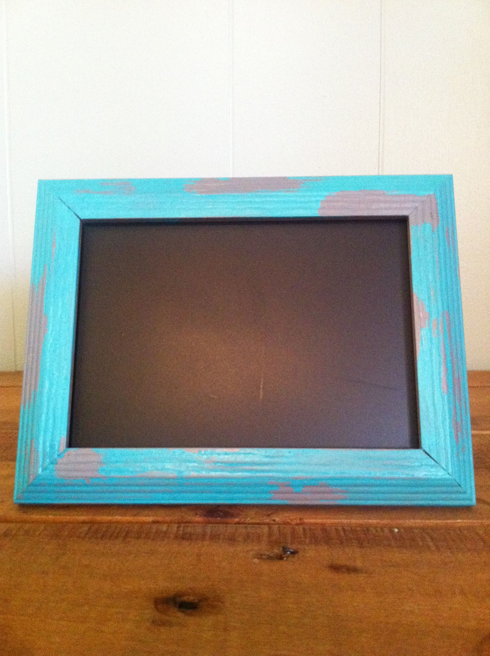 DIY chalkboard, paint cheap picture frame then chalkboard paint the ...