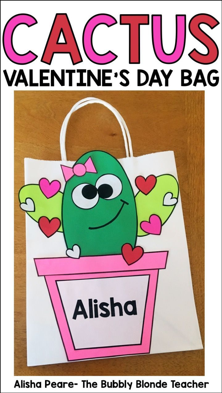 Valentine's Day Bag- Cactus Themed
