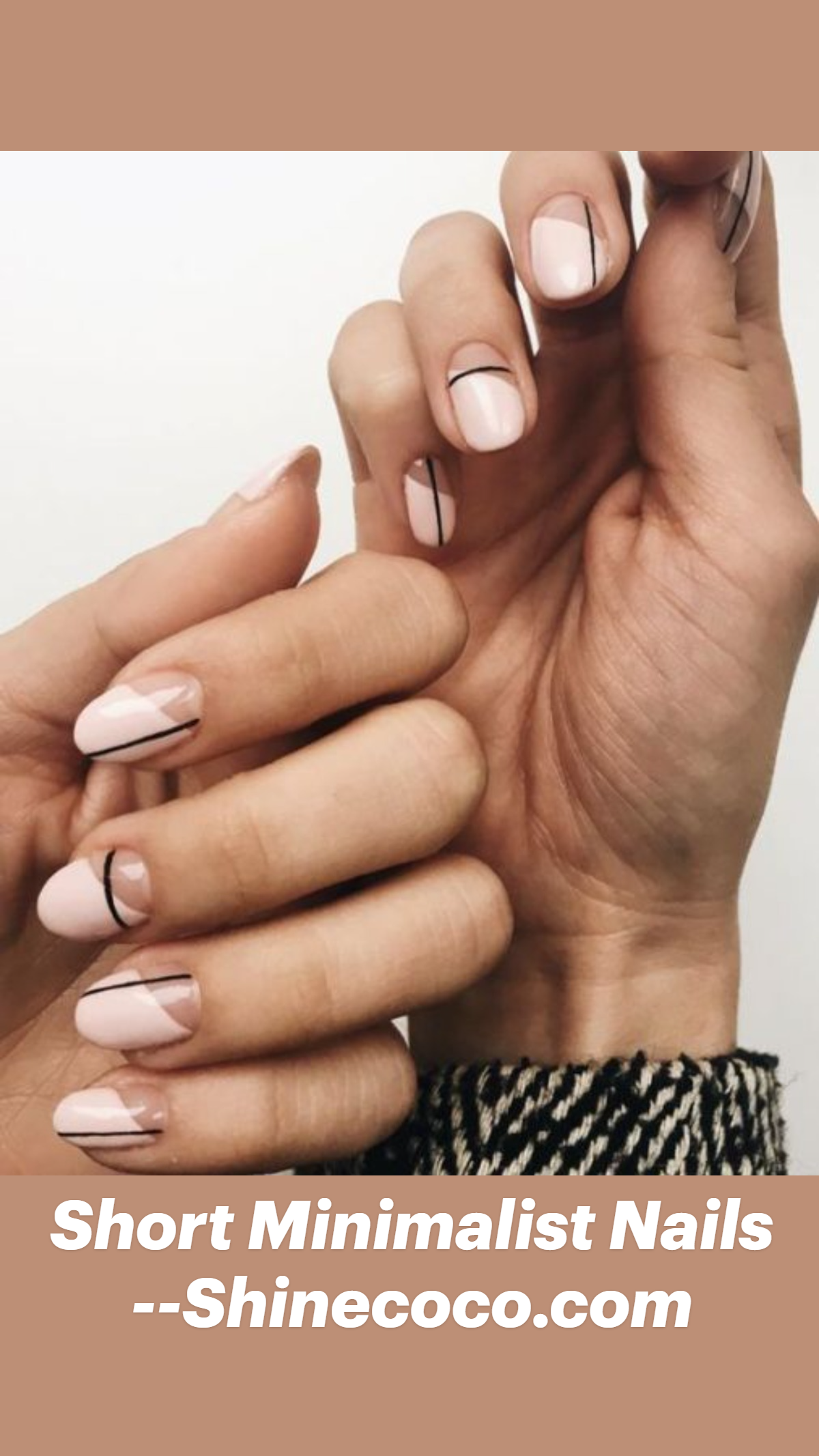 Short Minimalist Nails –Shinecoco.com