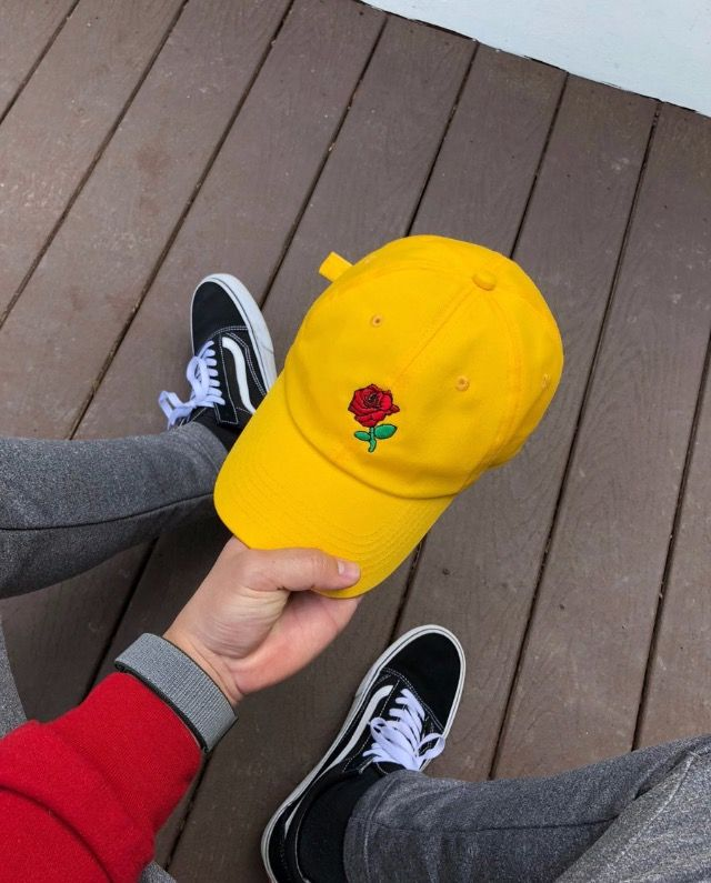 98150f72f909 cred twitter  ShopSeasonCaps Yellow Roses