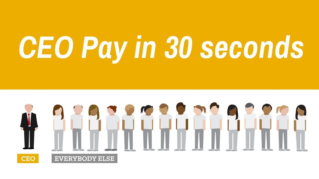 Runaway Ceo Pay In 30 Seconds Social Justice Restorative Justice Economic Policy