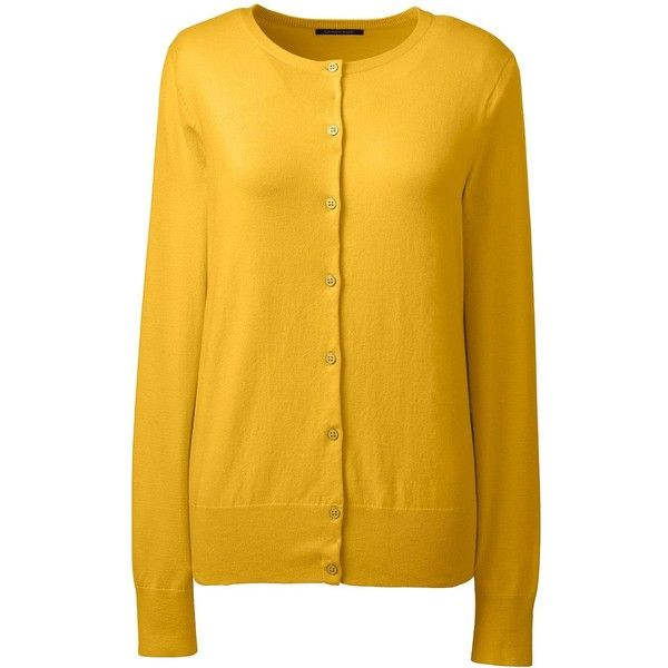 Lands' End Women's Plus Size Supima Cotton Cardigan Sweater ($25 ...