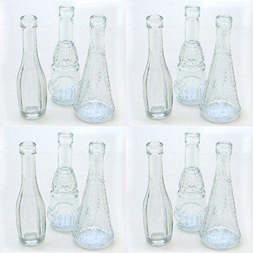 12 Stuck Deko Glasflaschen Vasen H 12 Cm Annastore Http Www