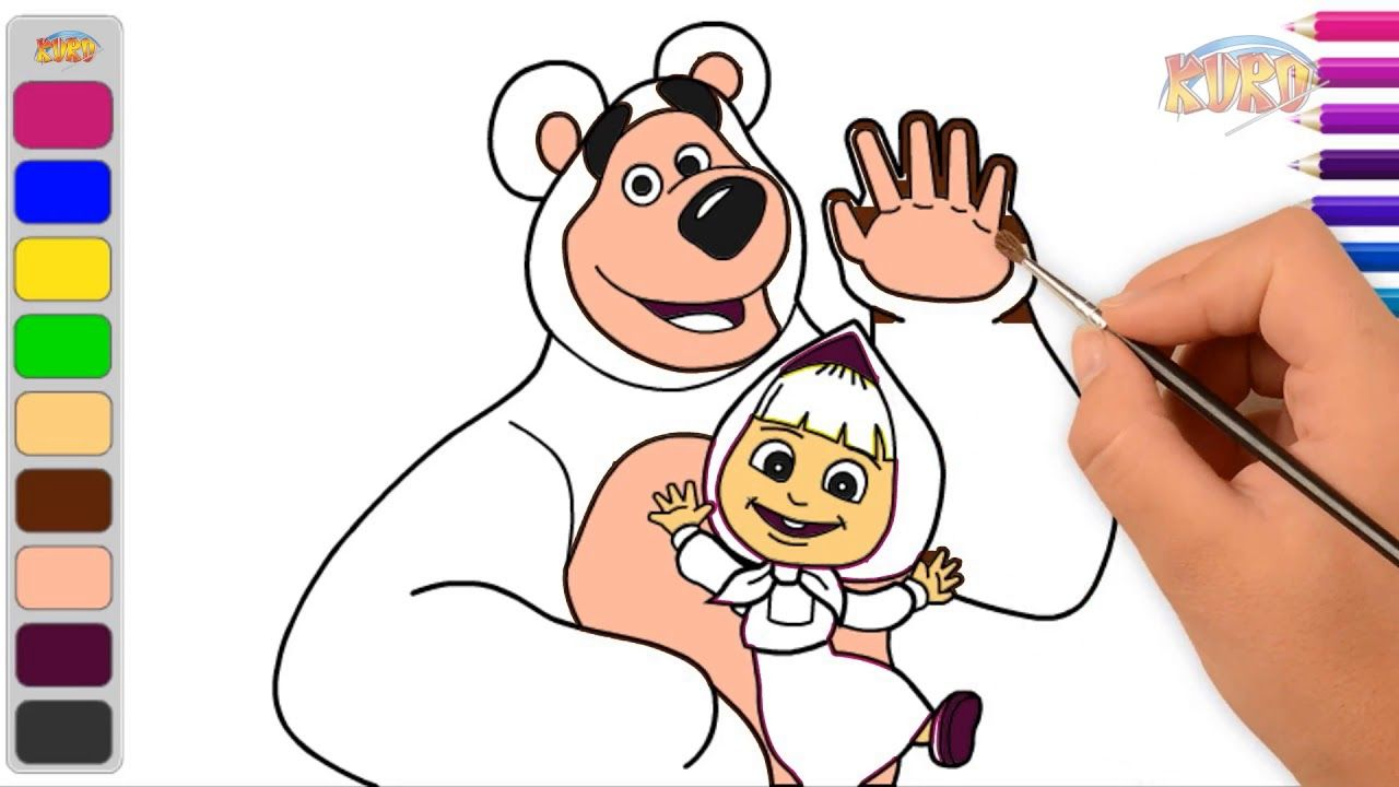 Animasi Masha The Bear L Belajar Menggambar Dan Mewarnai Masha