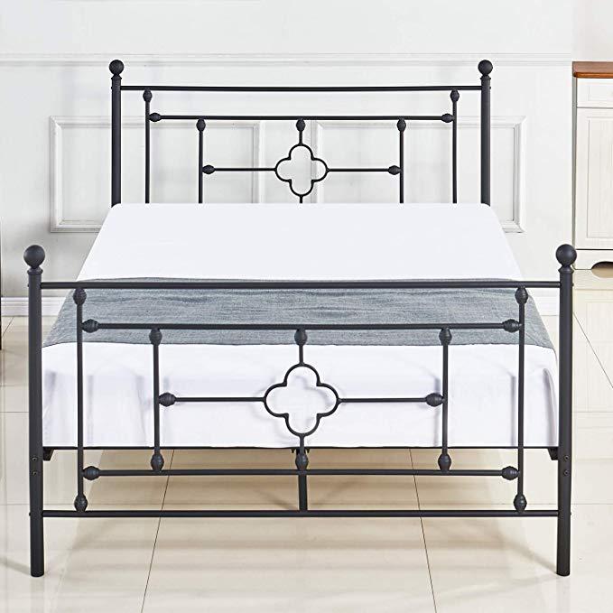 Amazon Com Dikapa Metal Platform Bed Frame Queen Size With