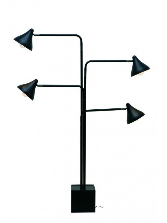 Merveilleux Acorn 4 Floor Lamp In Black By Neuvo Living