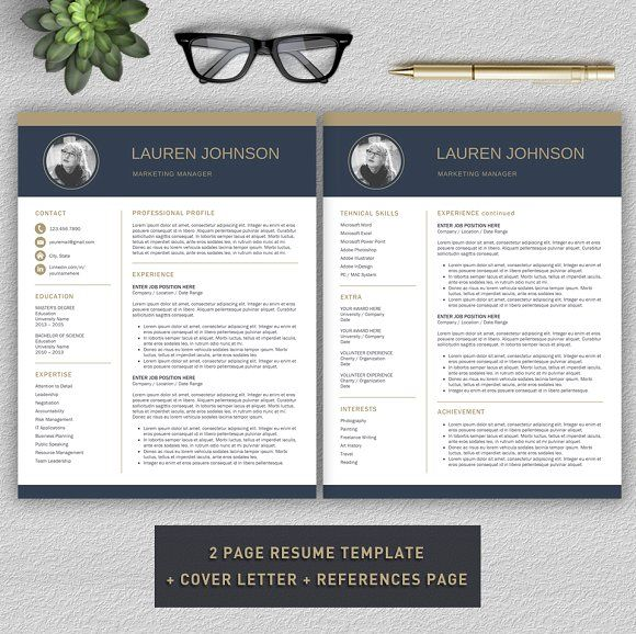 Resume CV + Cover Letter by ProGraphicDesign on - references page resume