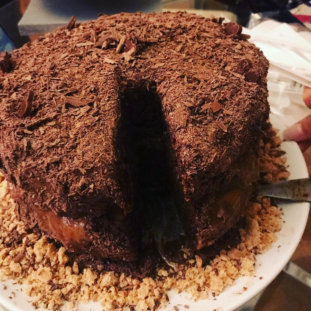 Chocolate and caramel Cake  -
