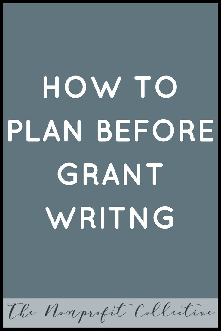 Grant writer business plan
