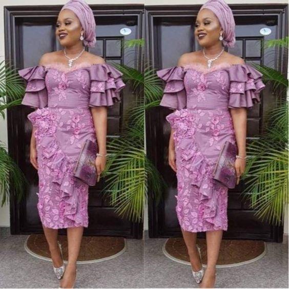 Ankara style with the lace Asoebi #nigeriandressstyles