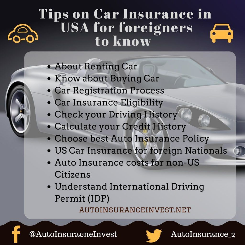 Usa Auto Insurance >> Usa Car Insurance Buying Tips For Non Us Citizens