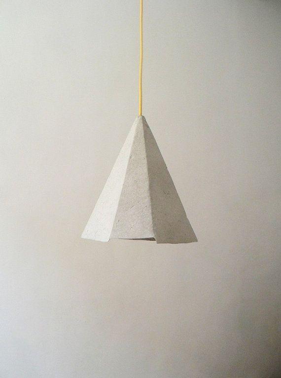 Paper mache lamp topaz lamp pendant light hanging lamp pendant paper mache pendant lamp topaz paper pulp hanging lamp paper lamp shade aloadofball Gallery
