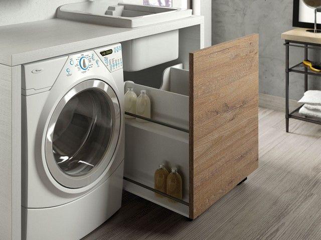 QUBO lavanderia composizione 43 Iperceramica Mobili