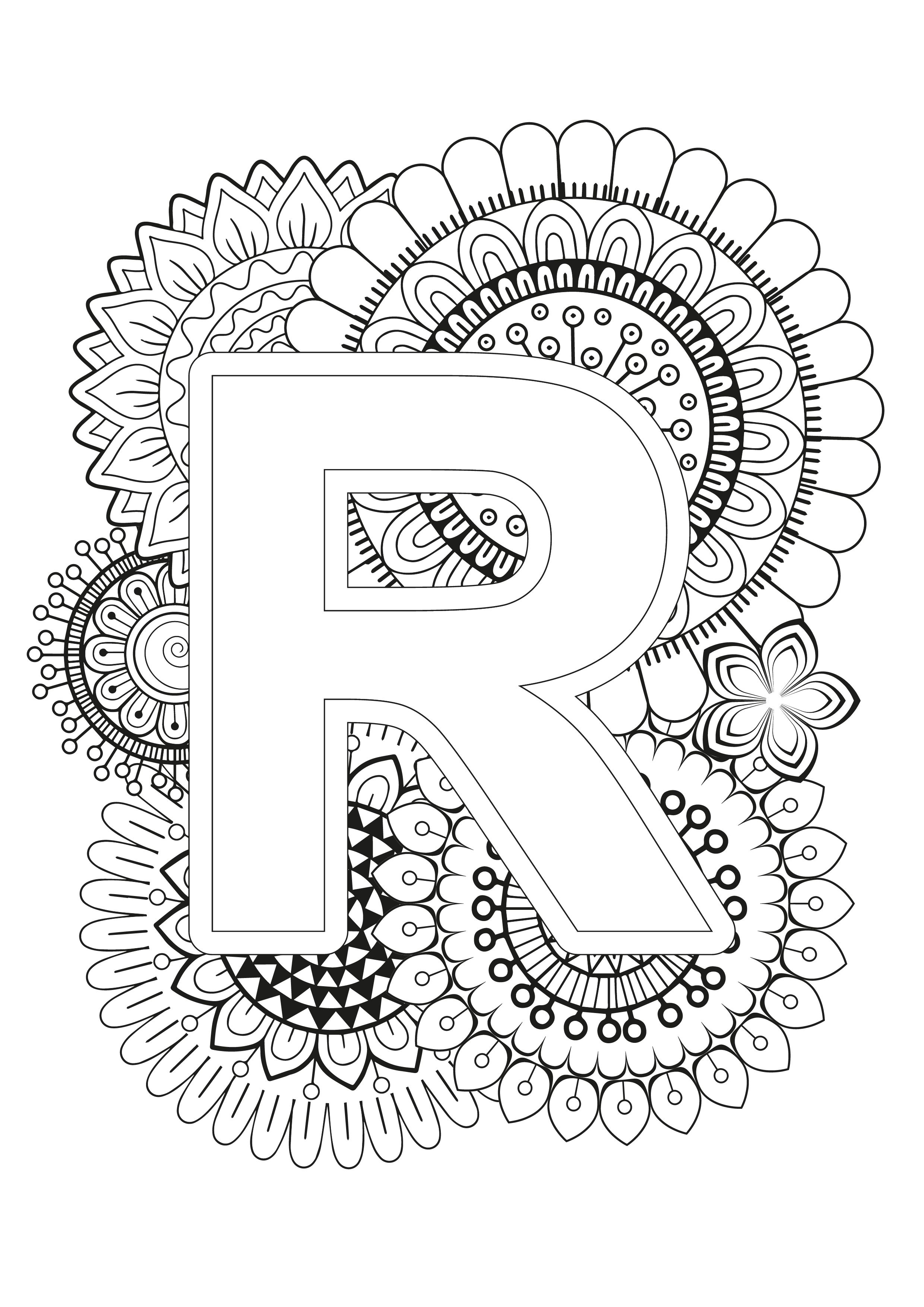 Mindfulness Coloring Page Alphabet Pattern Coloring Pages Coloring Books Alphabet Coloring Pages