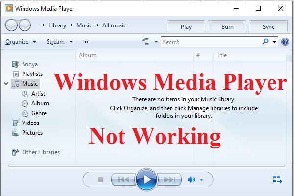 4 Methods To Fix Windows Media Player Not Working On Windows 10 In 2020 Technology Music Library Windows 10
