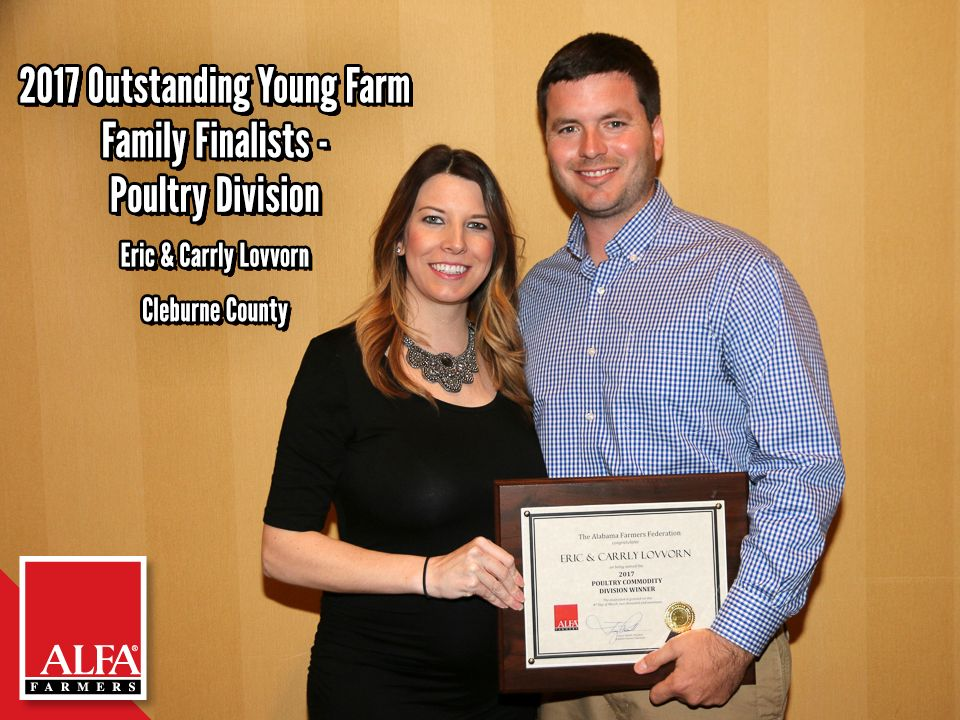 Poultry Division OYFF winners and finalists Eric and Carrly Lovvorn of Cleburne County