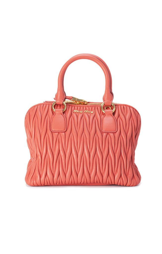 0be55be7a9d5 MIU MIU Matelasse Leather Top Handle Bag in Coral. Come check out the other  colors on sale!!! WHILE SUPPLIES LAST!  trendy