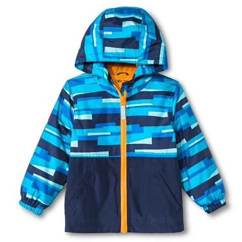 8654101b8 Toddler Boys  Colorblock Windbreaker Jacket with Hood Navy 7 ...