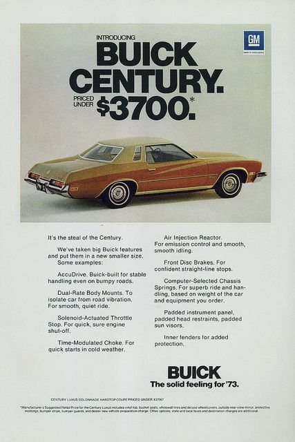 73 Buick Century : buick, century, Buick, Century, Luxus, Coupe, Century,, Buick,, Automobile, Advertising