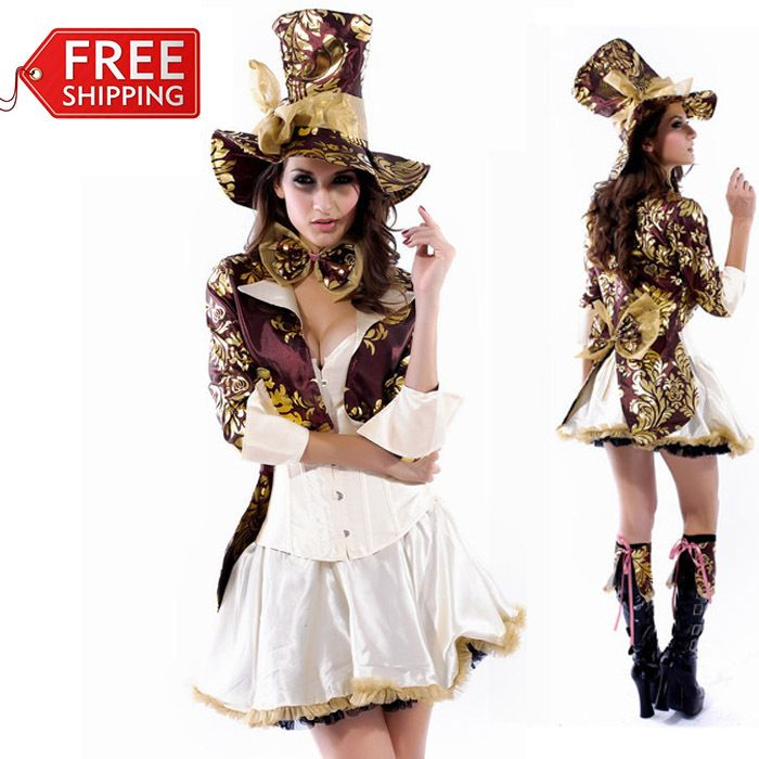 Cheap halloween costume party ideas Buy Quality halloween baby costume directly from China halloween costume tv Suppliers Mad Hatter costume women adult ...  sc 1 st  Pinterest & sexy Mad Hatter costume adult Alice In Wonderland costume women ...
