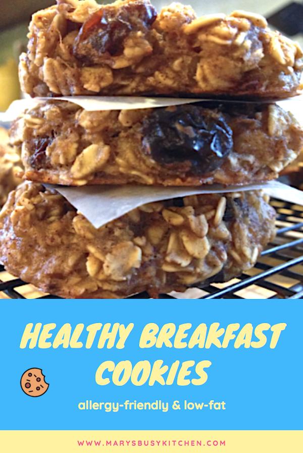 Gf Banana Oat Applesauce Breakfast Cookies Recipe In 2020 Breakfast Cookies Food Allergies Breakfast Cookies Healthy