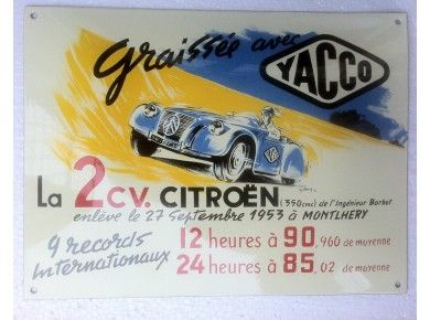 MONTLHERY 1953 CITROEN 2CV YACCO carte postale