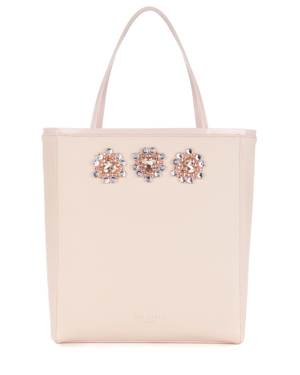 13e53c2a77d2 Ted Baker GEMMINA Jewelled shopper in Nude Pink