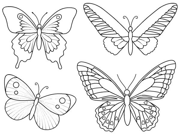 Pdf coloriage petits papillons origami et d coupages papier dessin papillon coloriage - Image de papillon a imprimer ...