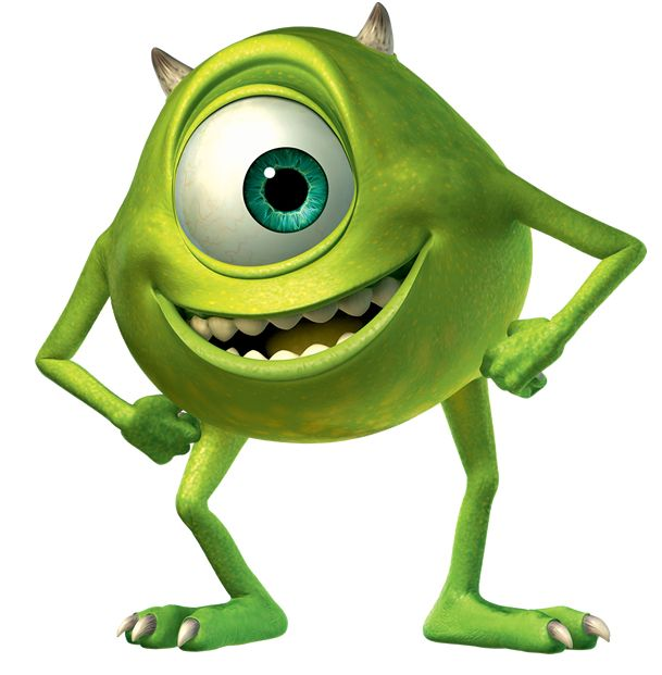 Mike Wazowski is like a cyclops because he also has one ...