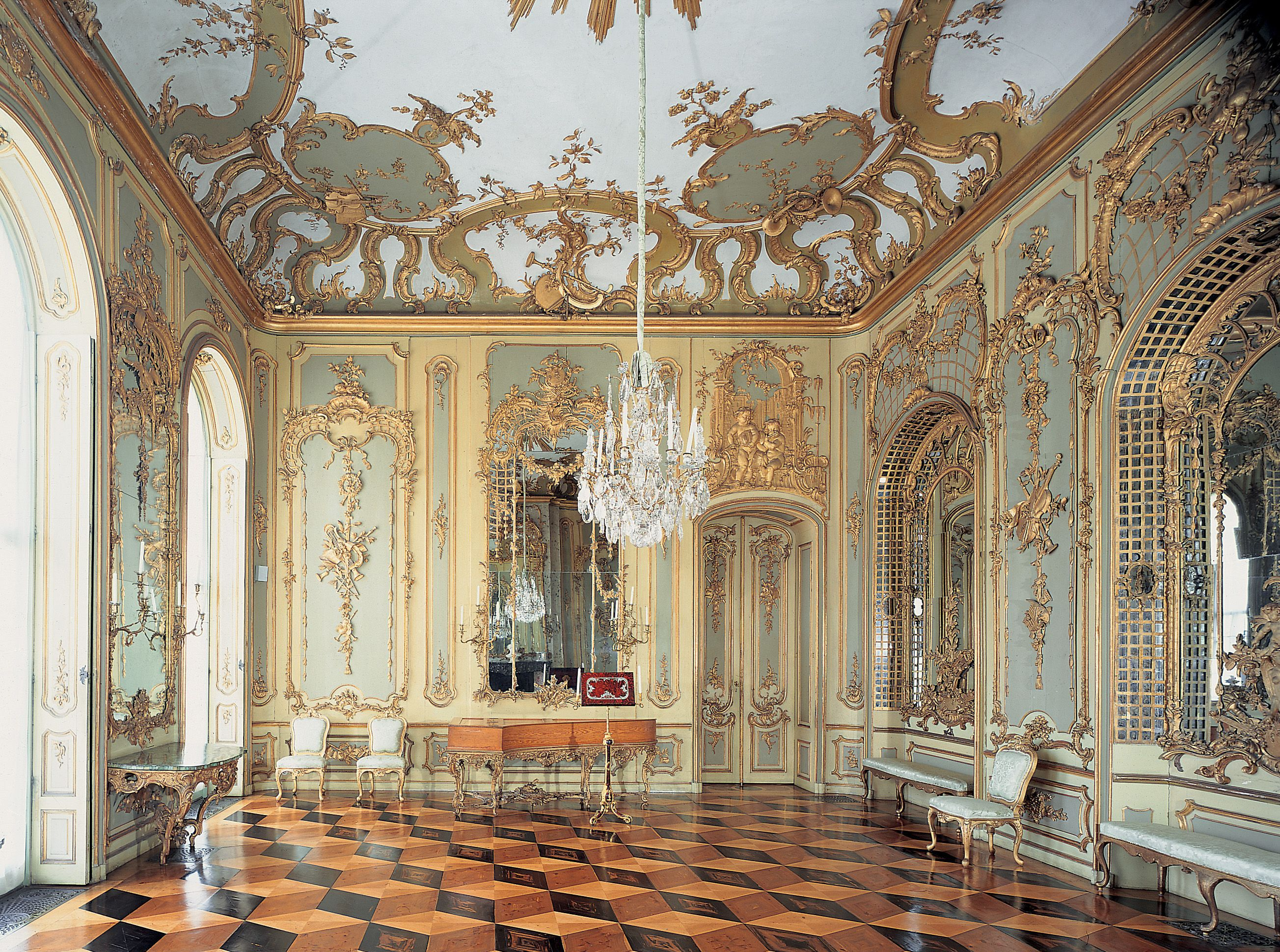 Neues Palais Architecture Palace Interior Old Houses