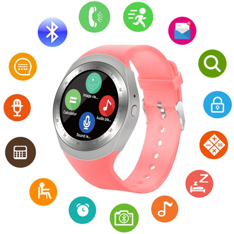 SEPVER SN05 Round Bluetooth Smart Watch with SIM Card TF