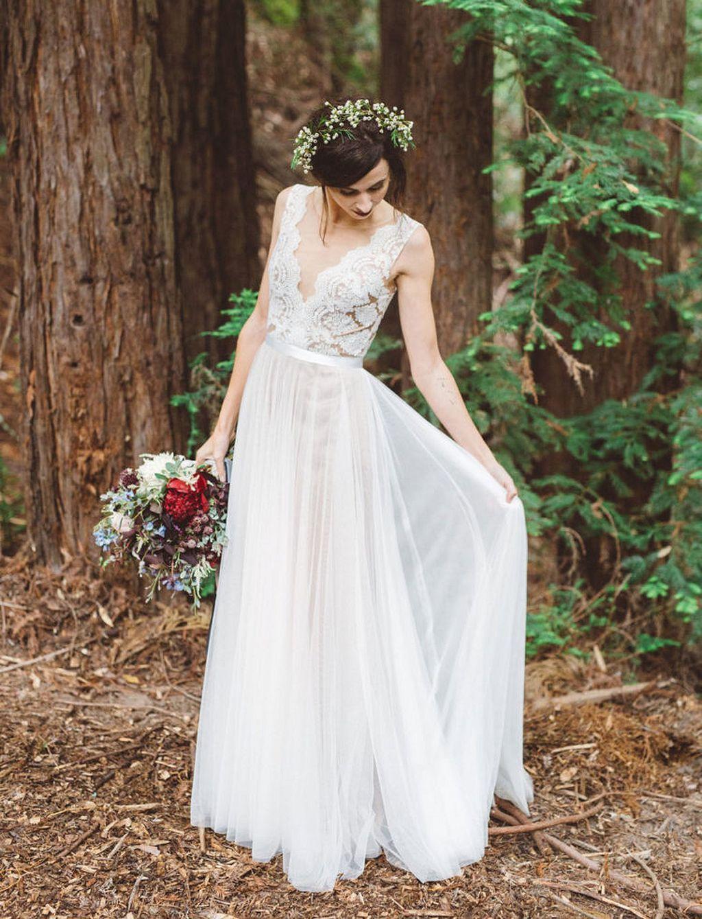 Woodland wedding dress  Pin by Wedding Magazine on Wedding Dress u Attire  Pinterest
