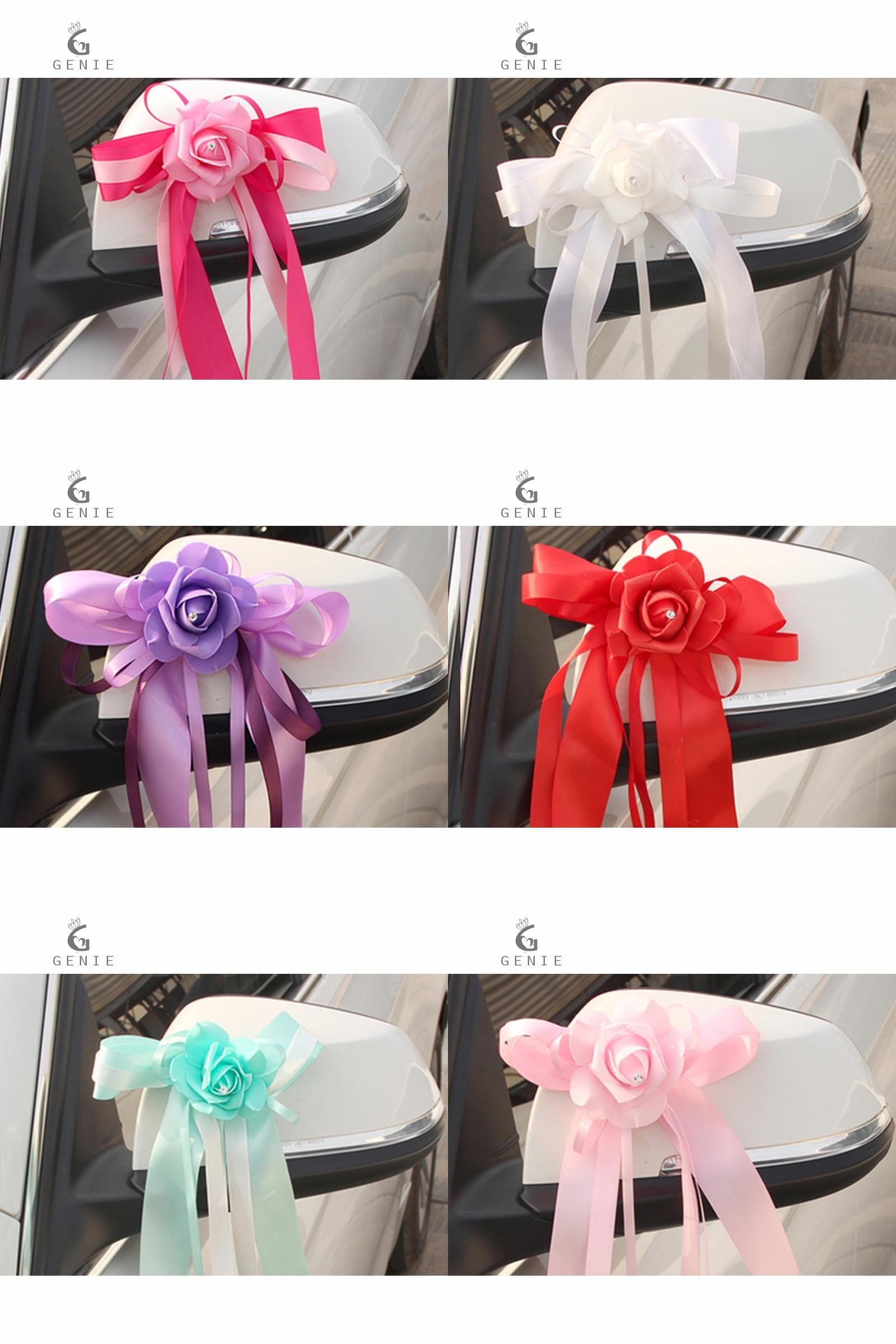 Wedding car flower decoration images  Visit to Buy Genie Wedding Car Decoration Artificial Flower Foam