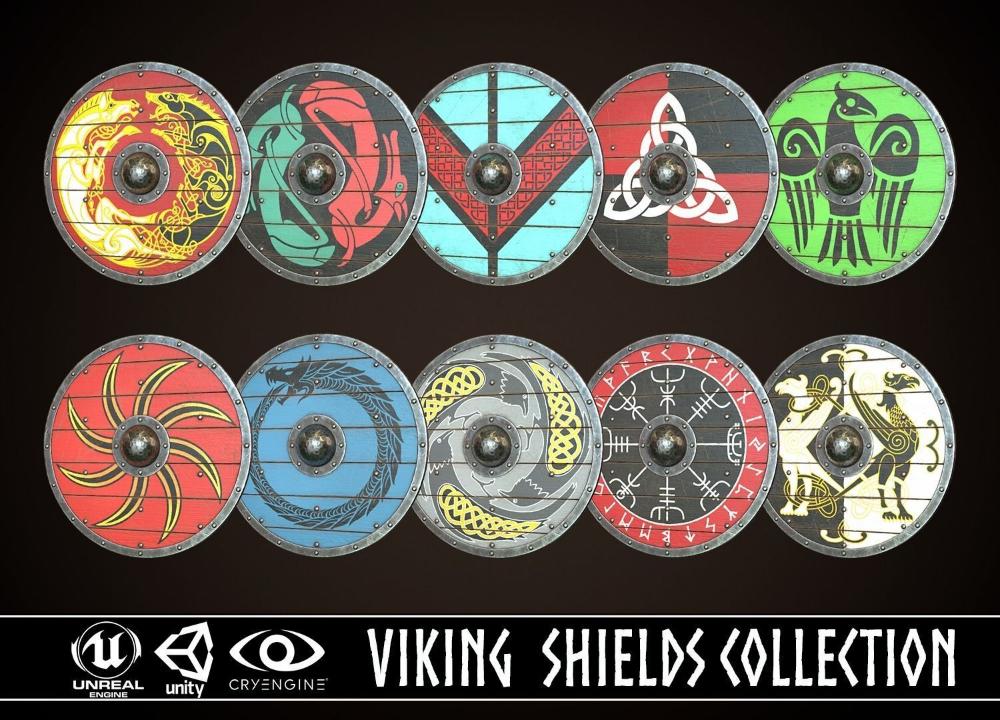 Viking Shield Ultimate Collection Viking Shield Vikings Art Design