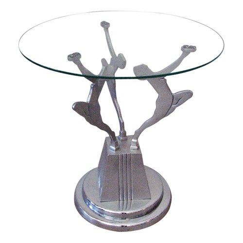 Vintage Art Deco Figural Side Table In The Frankart Style 775