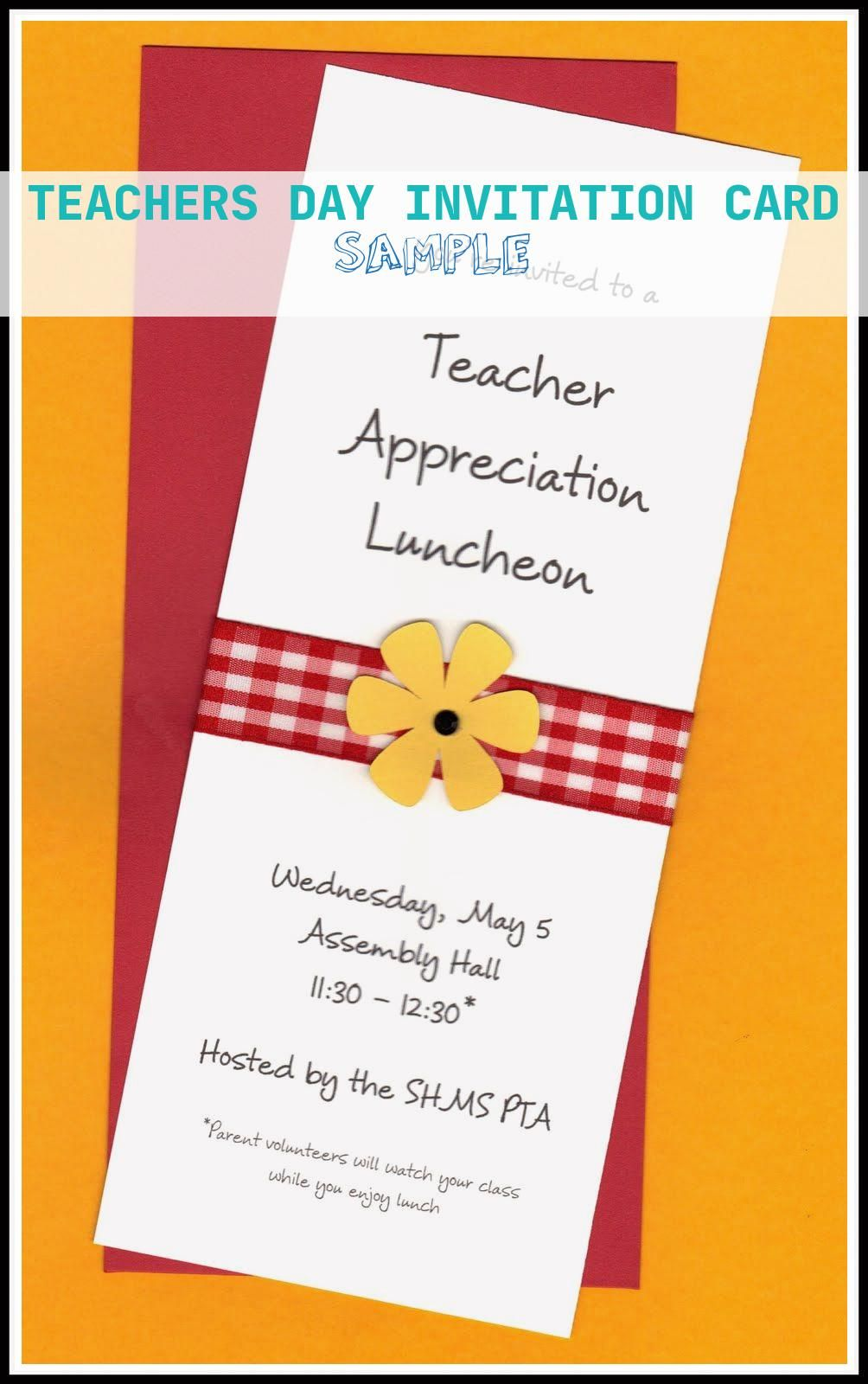 14 Top Teachers Day Invitation Card Sample In 2020 Teacher Appreciation Lunch Teacher Appreciation Luncheon Teacher Appreciation Breakfast