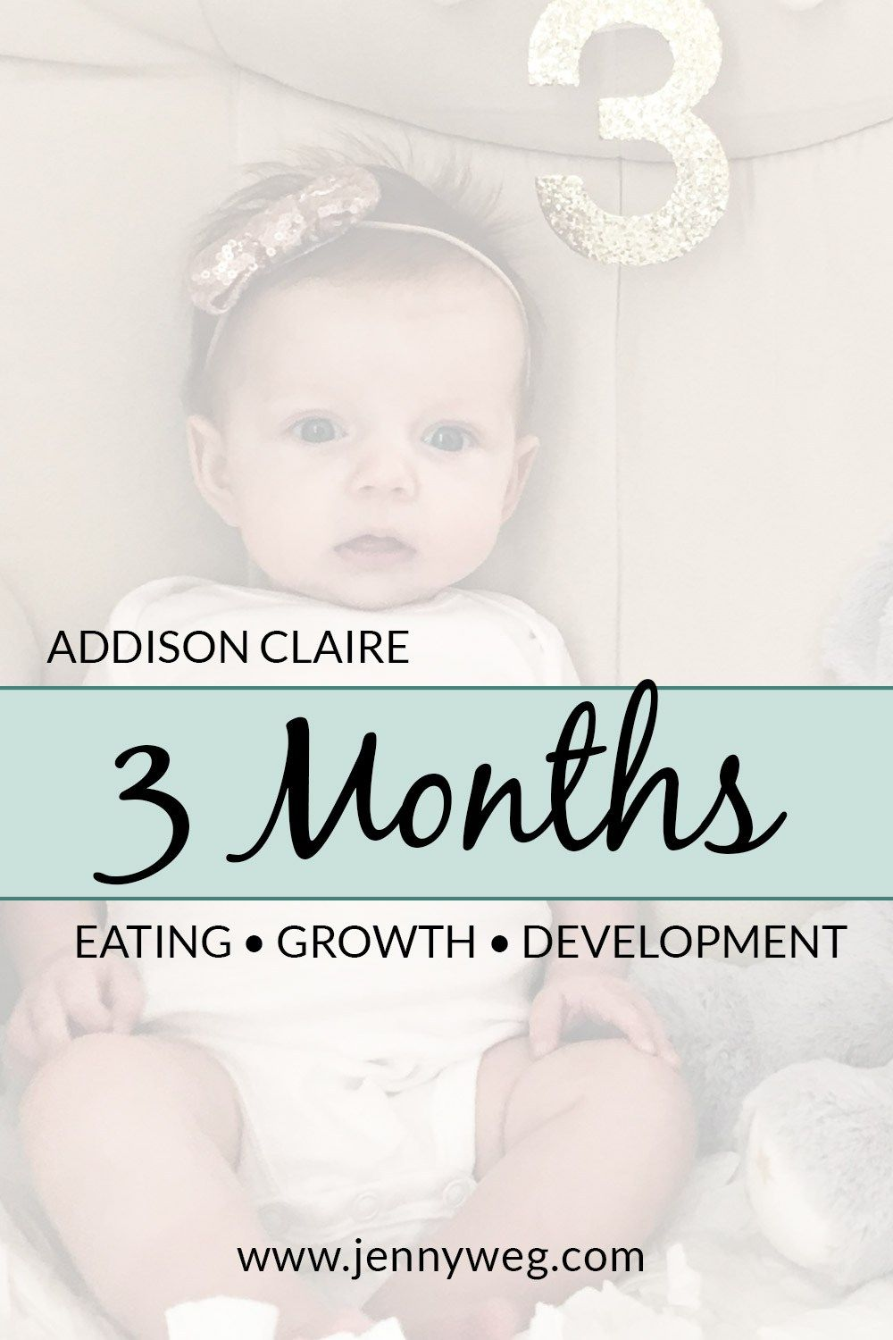 Addison Claire 3 Months Jenny Weg Blog Best Of Baby Month By