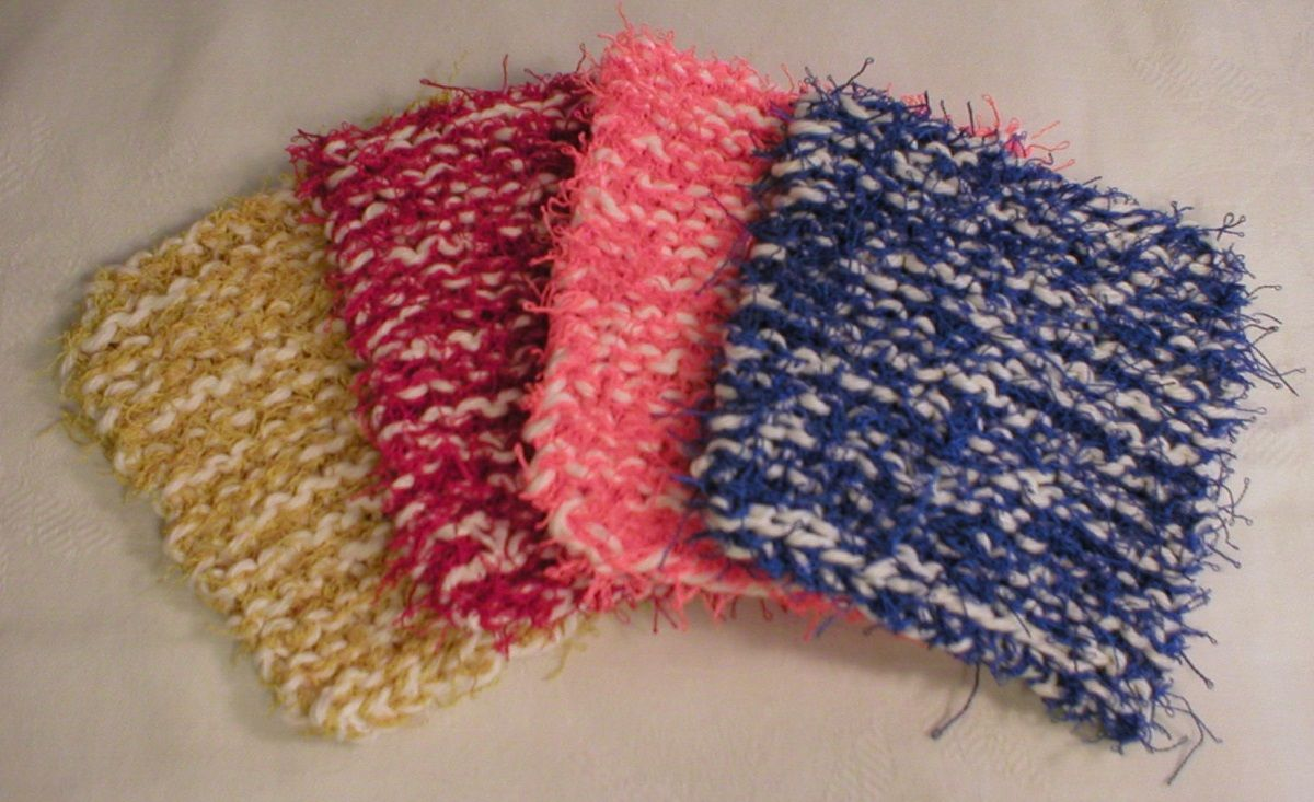 NEW handmade knit kitchen dish scrubbies scrub pads or scrubbers ...
