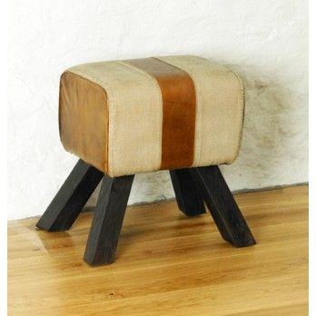 Roadie Chic Leather Footstool