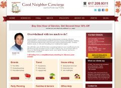 GoodNeighborConcierge.com provides Boston Personal Assistants, Personal Concierge Services and Lifestyle Management Services. Website built and maintained by theWSItouch.com