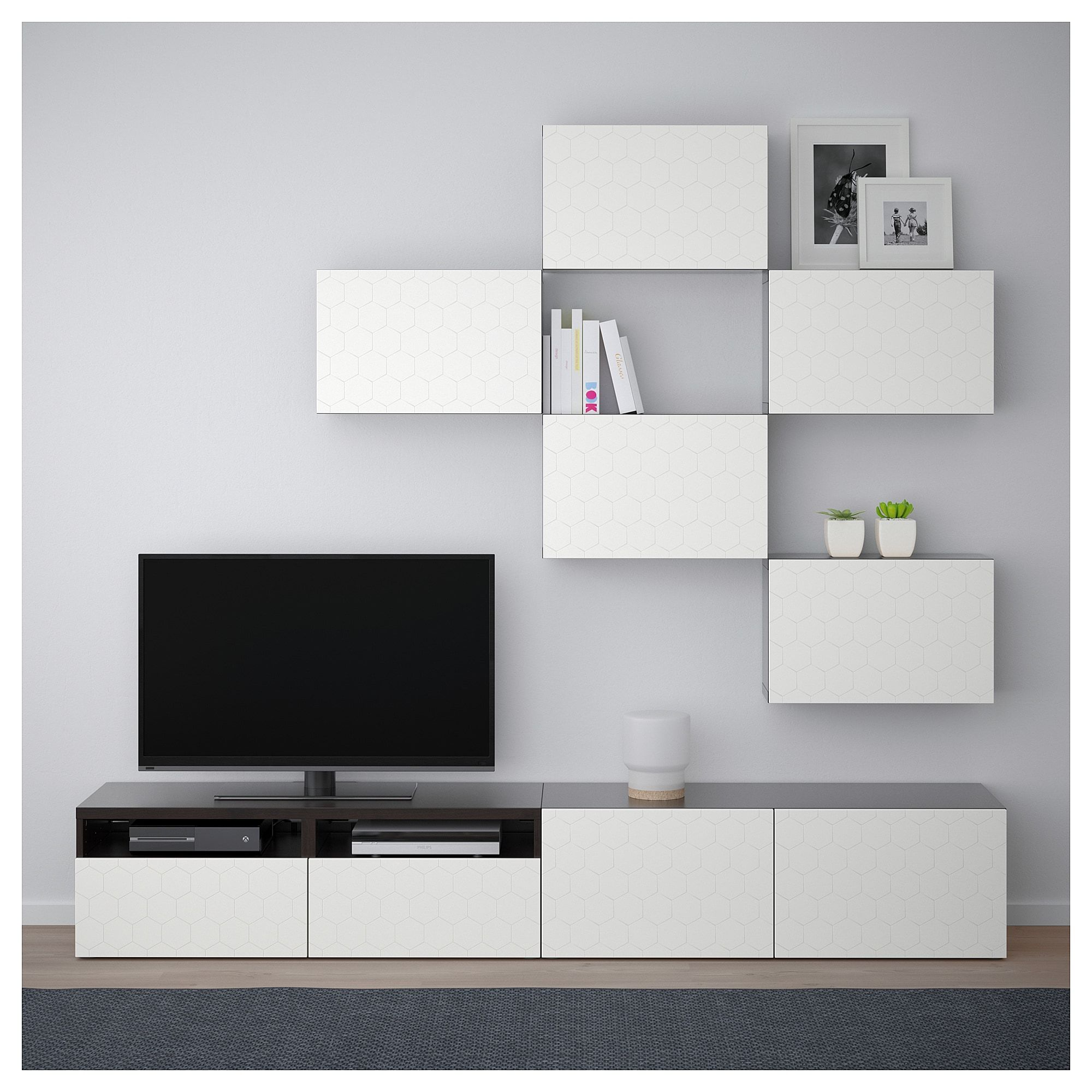 Mobili Porta Tv Design Ikea.Besta Tv Storage Combination Black Brown Vassviken White