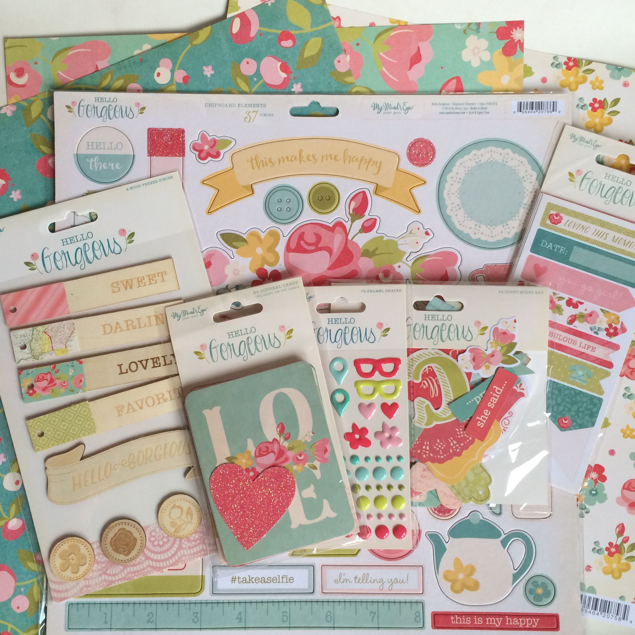 Have you seen the new collection from My Minds Eye 'Hello Gorgeous'? It really is gorgeous, especially if you're like me and love florals and girlie colours. It's reminds me a lot of the florals and colours you'd expect to see in a Cath Kidson store, and that for me is heaven! Below is what …
