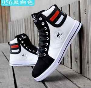 NEW-2016-Men-s-Shoes-Fashion-Leather-Shoe-Casual-High-Top-Sneakers-Shoes-hot