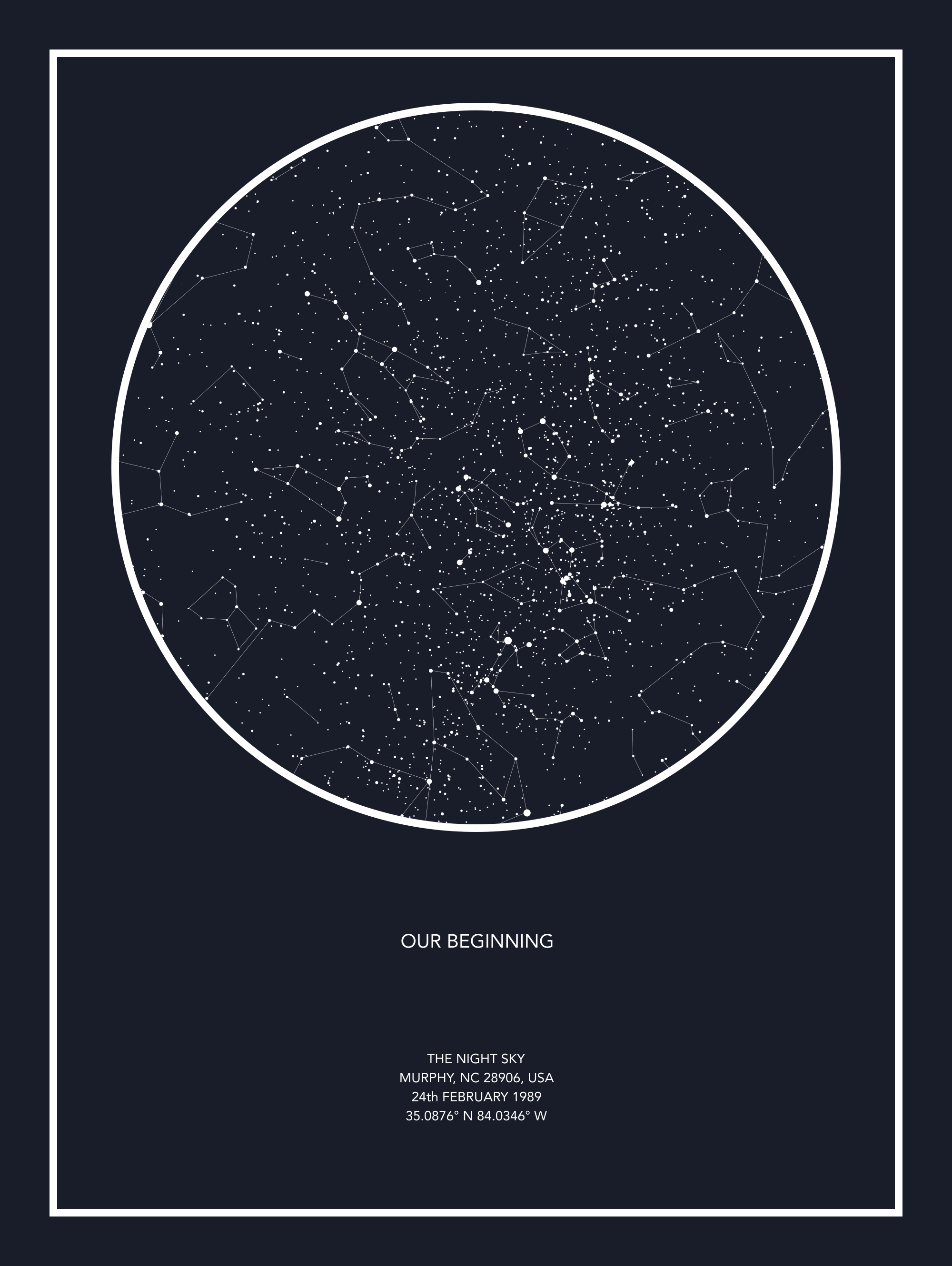 from Custom Star Map Editor, thenightsky.io $60 for print. On the