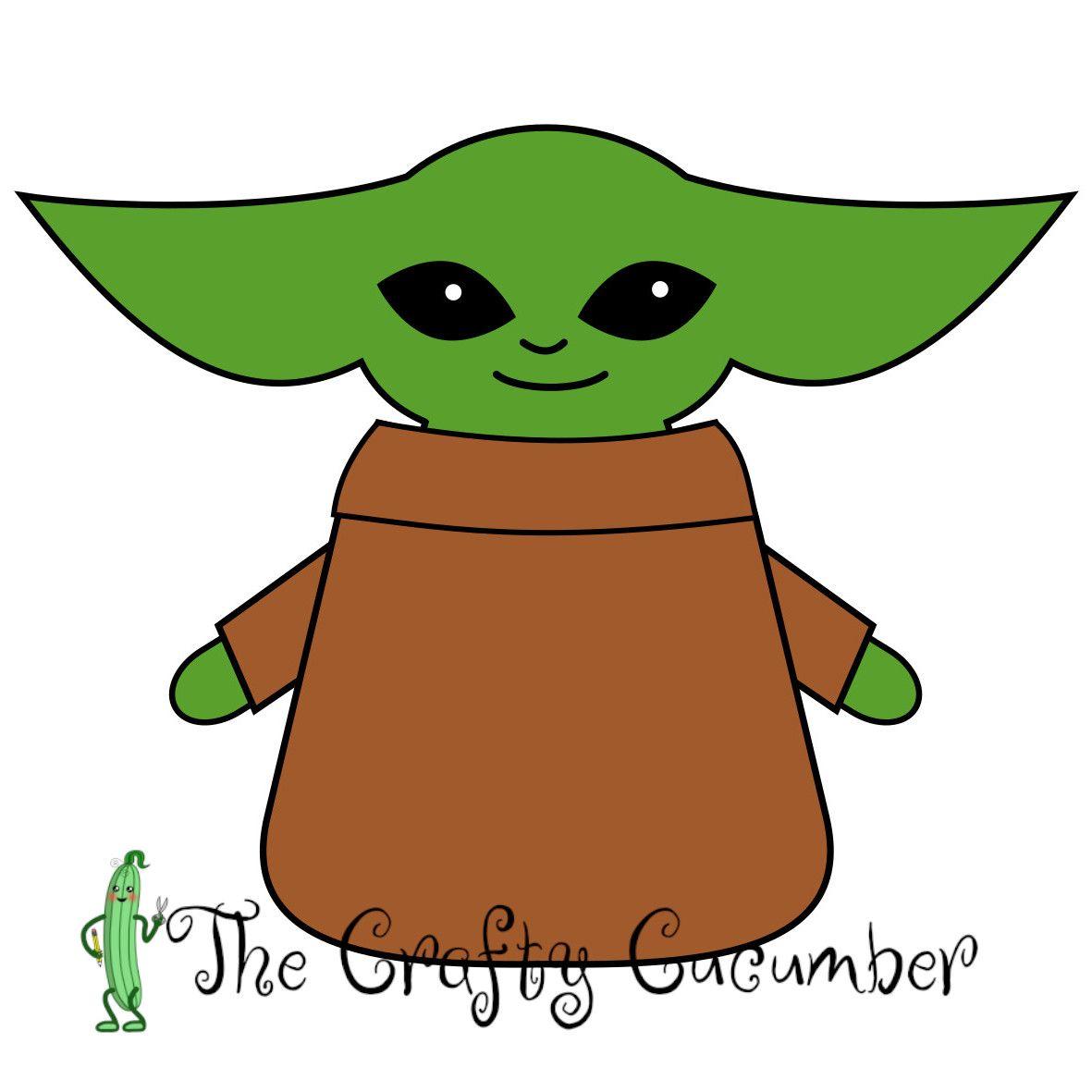 Baby Yoda Grogu Decoration Easy Drawings Kawaii Animals Big Eyes