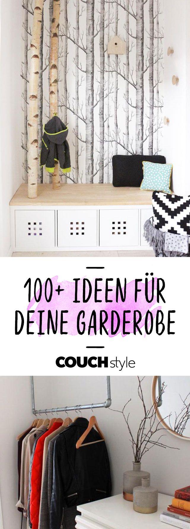 Garderoben Ideen So Schaffst Du Stilvoll Ordnung Garderobe Ideen Diy Kleiderschrank Garderobe