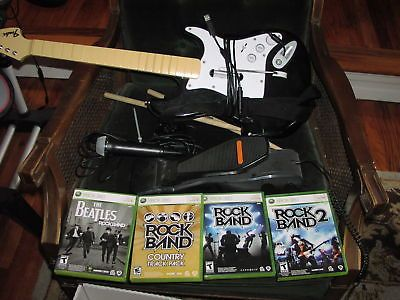 Xbox 360 rock band bundle drums guitar pedal mic 4 games xbox xbox 360 rock band bundle drums guitar pedal mic 4 games xbox games consoles and gaming publicscrutiny Gallery
