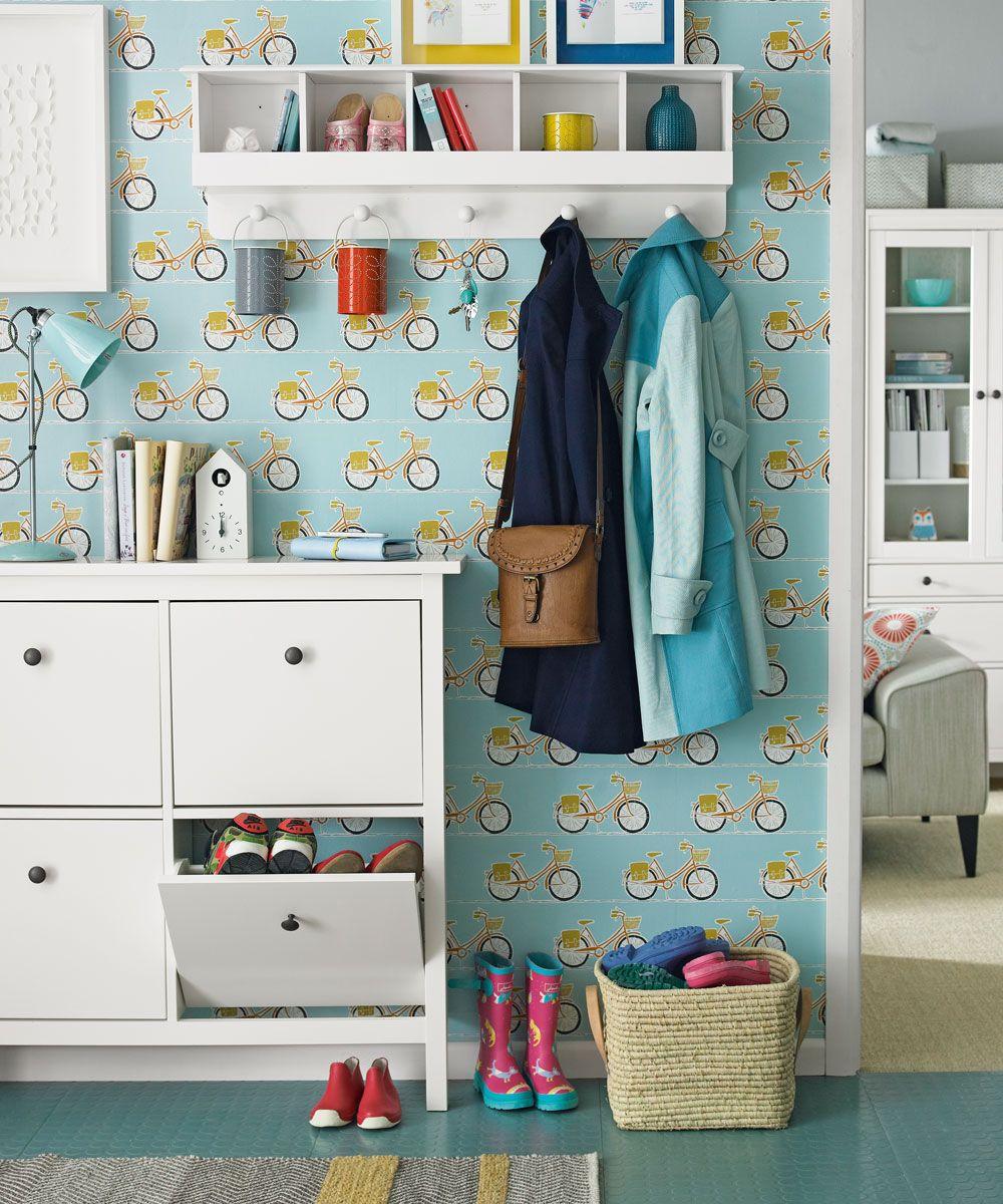 Narrow hallway storage solutions  Pin by Lisa Waterhouse on Holiday Homes  Pinterest  Hallway