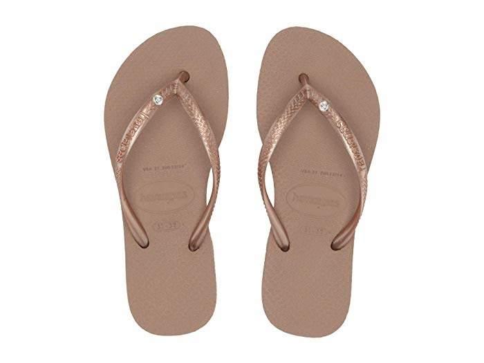 buty skate o rozsądnej cenie najwyższa jakość Havaianas Slim Crystal Swarovski(r) Flip-Flop (Toddler ...