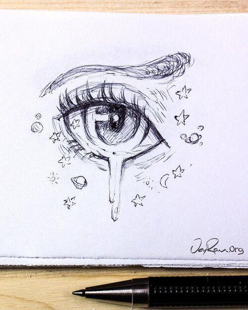 Female Anime Eye Drawing & Design (Printable PDF) — JeyRam Art